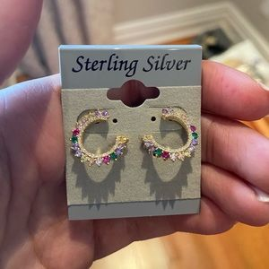 Sterling Silver Rainbow Studs